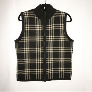 Christopher & Banks Vest Checkered size M